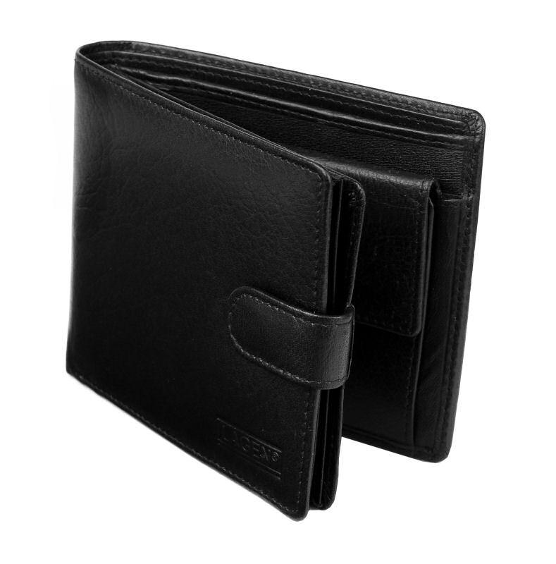 c3f2369691bf Pánska kožená peňaženka LAGEN viacdielna čierna