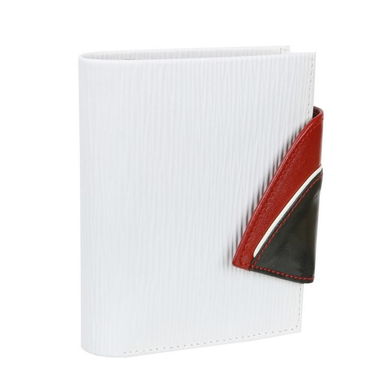Dámska peňaženka RONDO biela s červeným vnútrom 7f902e00325