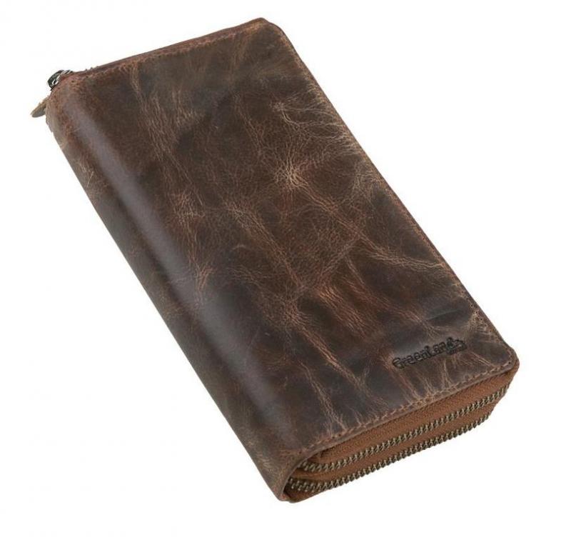 805a38a4e1 Kožená listová peňaženka s 2 zipsami GREENLAND Montana