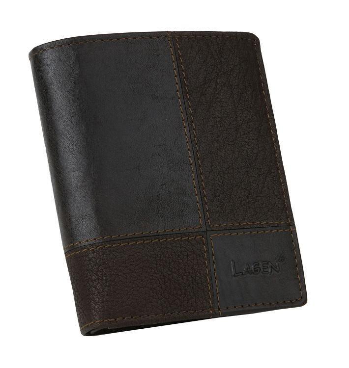 e14469857f4f Kožená pánska peňaženka LAGEN tmavo-hnedá - KozeneDoplnky.sk
