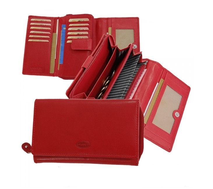 55e557abf Dámska kožená peňaženka na 16 kariet BRANCO, červená - KozeneDoplnky.sk