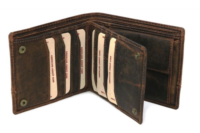 de7546c23e Pánska kožená peňaženka GreenLand na 15 kreditiek 2551-25