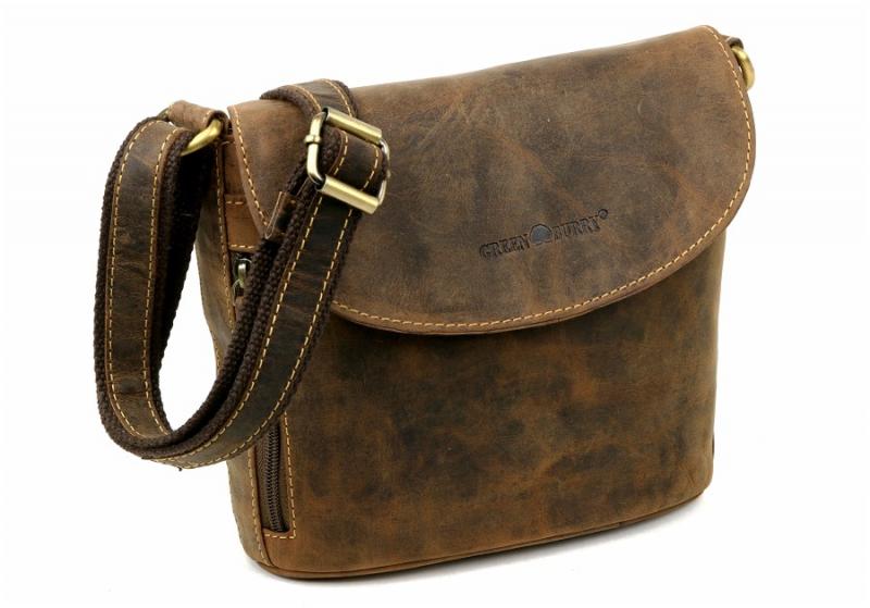 Kožená dámska taška cez plece jednokomorová 1727 brúsená koža 5bee6188164