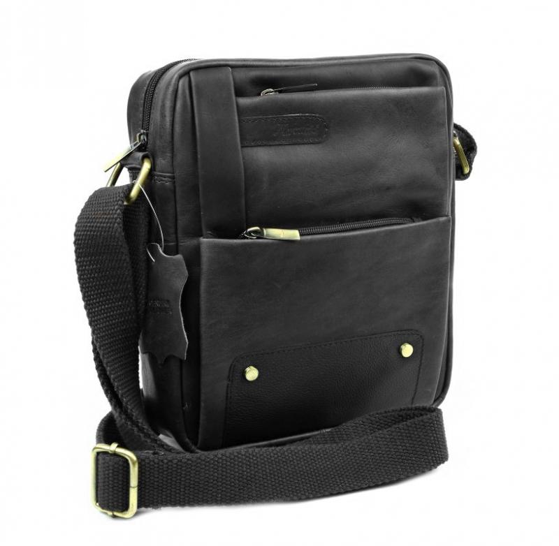 f7d26e4683 Kožená pánska taška na rameno MERCUCIO 23x20 cm čierna
