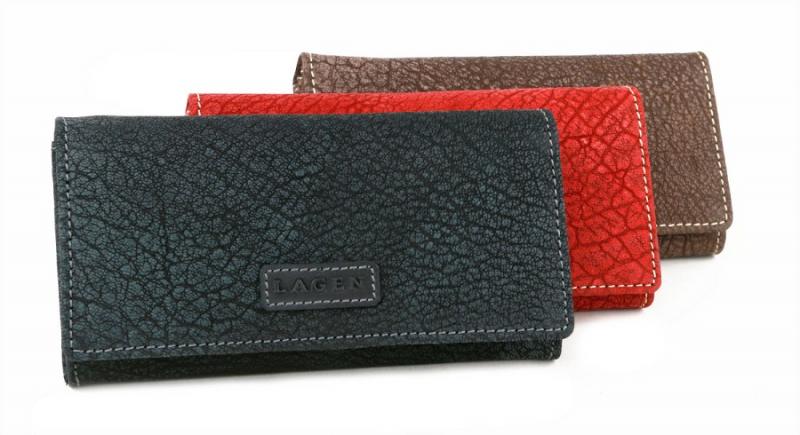 Kožená dámska peňaženka LAGEN viacdielna čierna 780f7aa900e