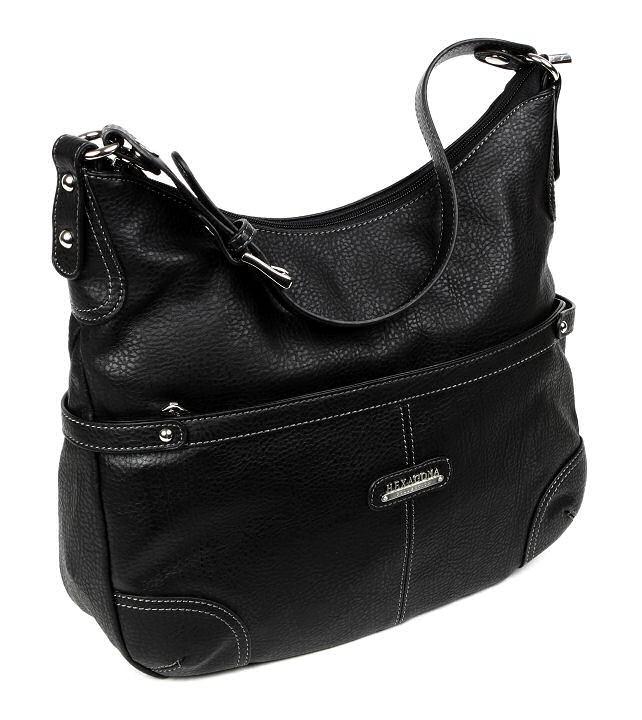 Elegantná dámska kabelka HEXAGONA čierna K12703 816ba076b95