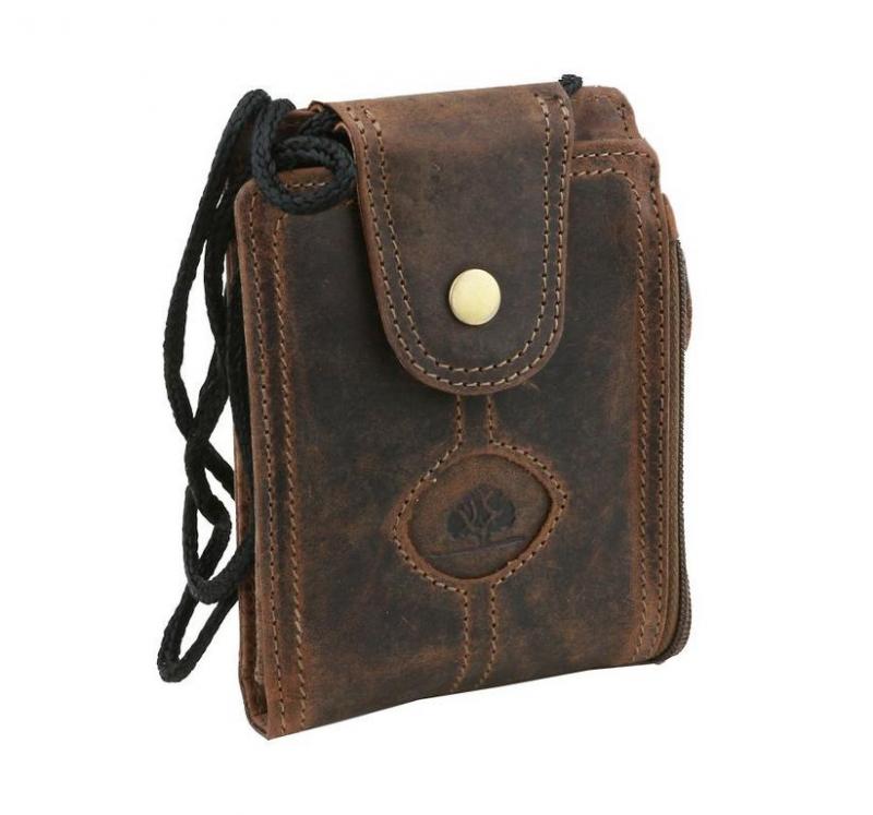 Pánska peňaženka na krk kožená GREENBURRY 324 d9c868f4b16