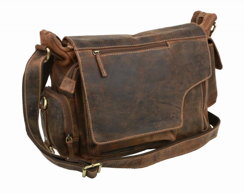 Kožená taška na rameno GreenBurry s poklopom 1763AM 6a3e7943b26