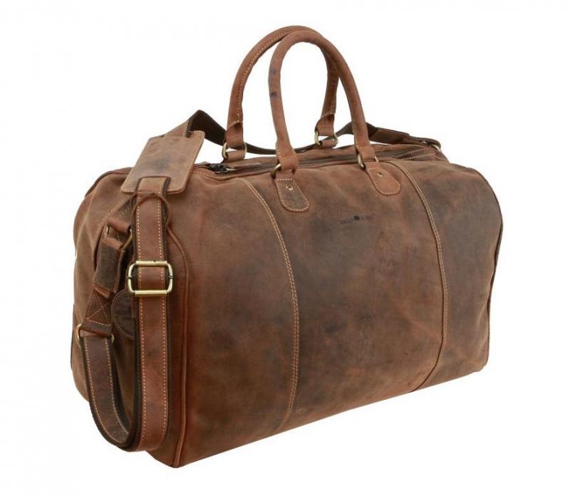 6c1db70445 Kožená cestovná taška na plece GreenBurry 1675 brúsená koža