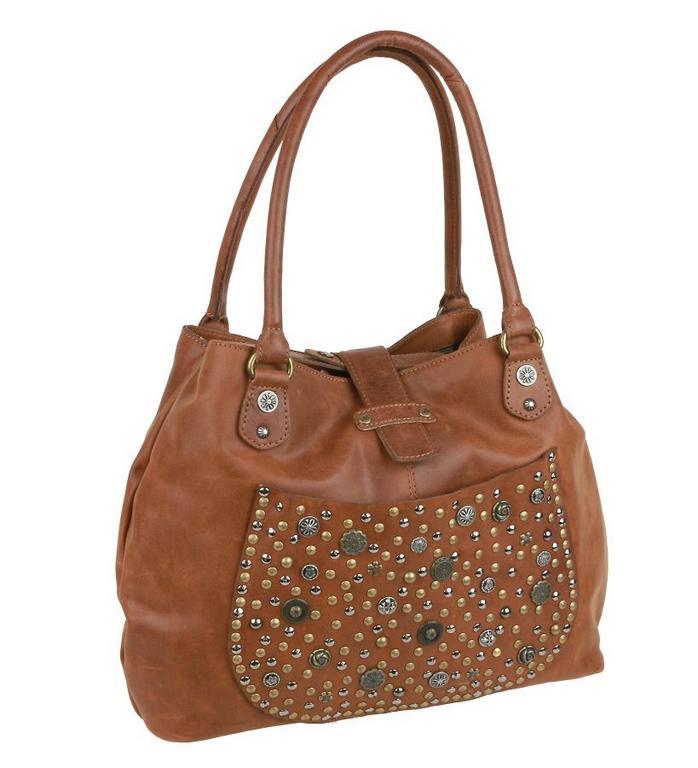 Vintage dámska zdobená kabelka BRANCO hnedá 52006 5c9880217d3