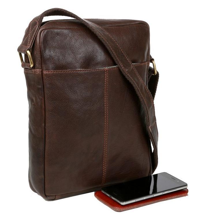 e605c9ee9 SENDI DIZAJN | Pánska taška na rameno C701 kožená hnedá