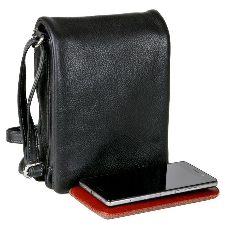 a07167a21 SENDI DIZAJN | Kožená pánska taška na rameno s poklopom čierna