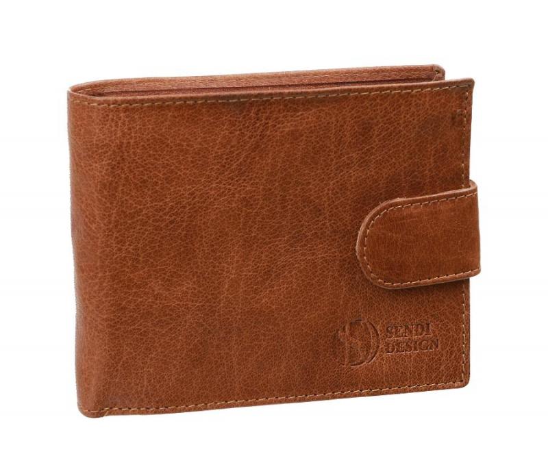 1b24dbaa19 Exkluzívna pánska peňaženka z pravej kože koňaková SENDI SNW6947