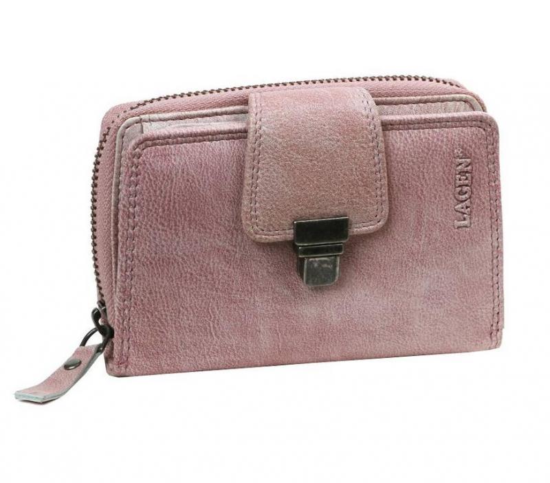 7d0ae5977d224 Dámska kožená fialová peňaženka dvojdielna LAGEN - KozeneDoplnky.sk