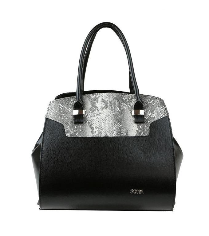 13c9312b35 Dámska elegantná kabelka SEKA čierno-strieborná