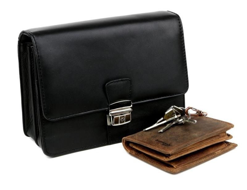 819141ed17 Kožená etue taška na doklady 611 čierna