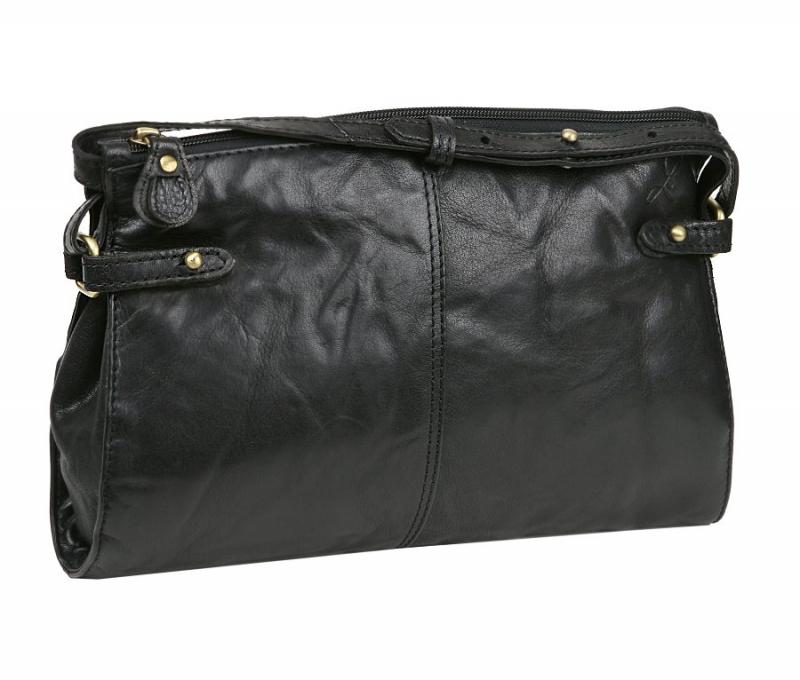 Exkluzívna kožená kabelka LAGEN 28 x 18 cm čierna 3377 4097e62a3e0