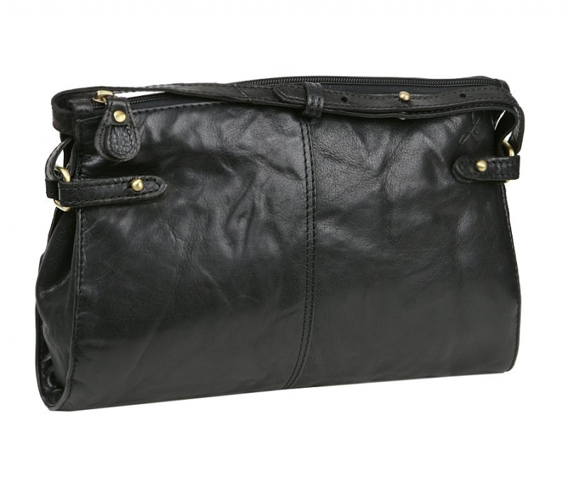 d16a4f24428c Exkluzívna kožená kabelka LAGEN 28 x 18 cm čierna 3377