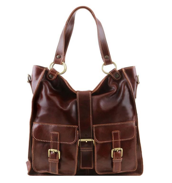 26780a81813f Dámska shopper bag kabelka MELISSA TUSCANY hnedá - KozeneDoplnky.sk