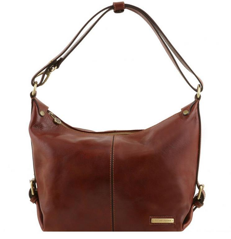 47803fcee Luxusná dámska kabelka hnedá SABRINA TUSCANY LEATHER 141479