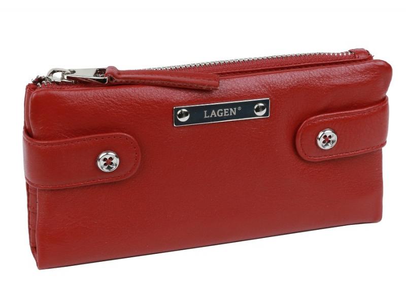 d21a23978a Elegantná listová peňaženka LAGEN červená 958 - KozeneDoplnky.sk