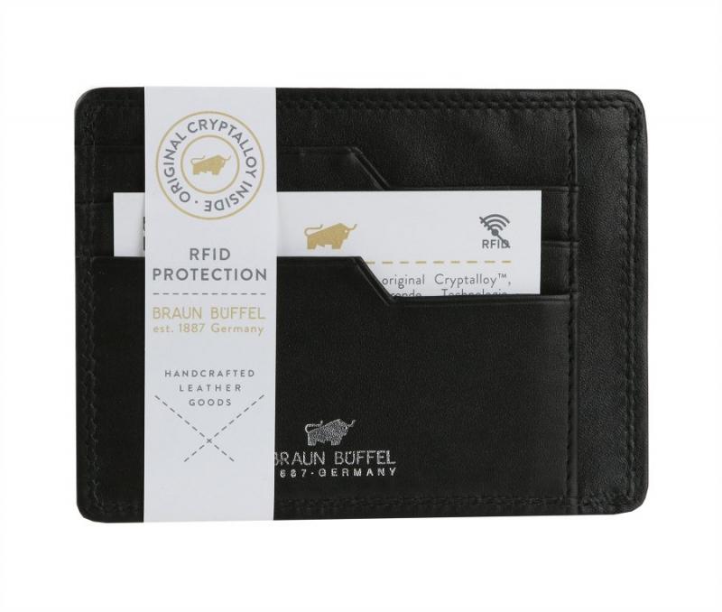 ba7d4403e Čierne RFID puzdro na karty a doklady BRAUN BUFFEL 90014 - KozeneDoplnky.sk