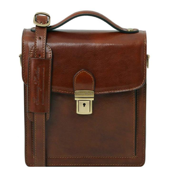 39b97c76e1 Kožená pánska taška cez plece DAVID hnedá