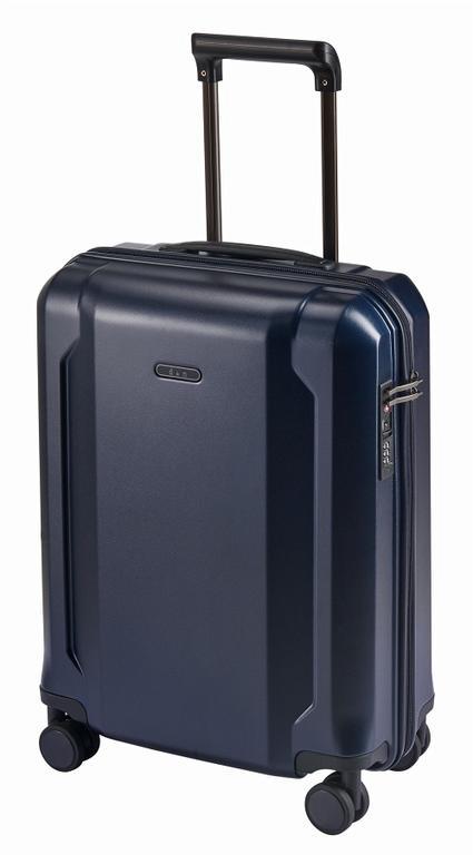 37a083060b18d Veľký cestovný kufor plastový tmavomodrý 8170 - KozeneDoplnky.sk