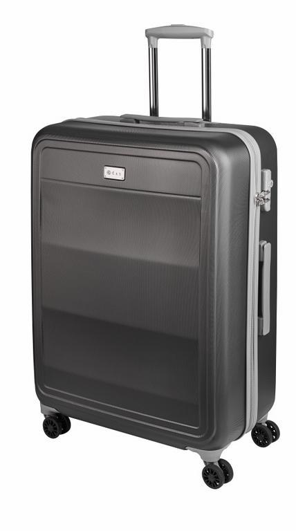 5b9ea27260223 Stredný cestovný kufor plastový 9660 šedý - KozeneDoplnky.sk