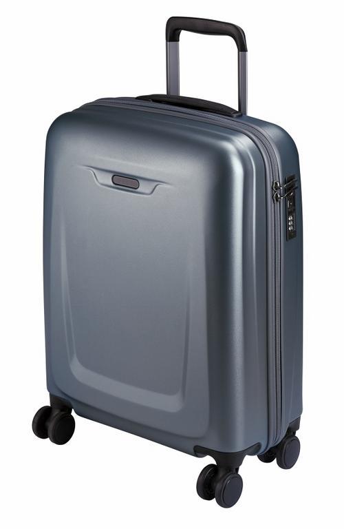 c30d9413d89 Palubný cestovný kufor strieborný plastový 8850 ( malý - S) - KozeneDoplnky. sk