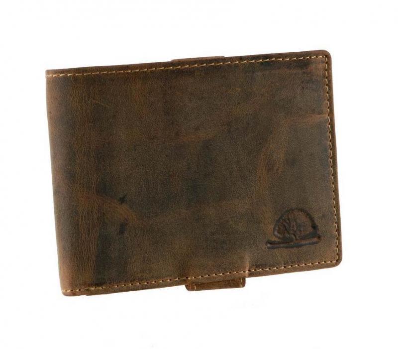 f5d1235611 Pánska kožená peňaženka GreenBurry 1705 brúsená koža hnedá -  KozeneDoplnky.sk
