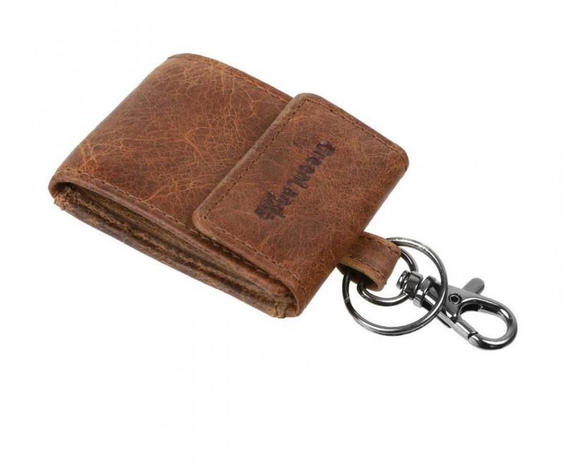 a2b1b7de5e Mini kožená peňaženka na kľúče hnedá GreenLand 167