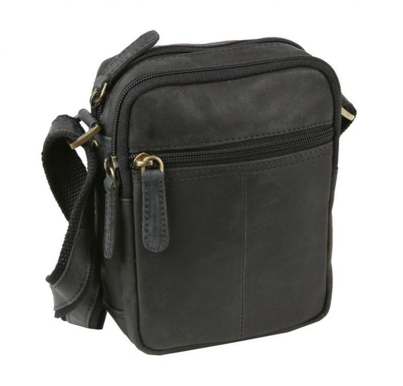 ad1d5020a Štýlová pánska kožená taška MERCUCIO HUNTER 18x14 cm hnedá -  KozeneDoplnky.sk
