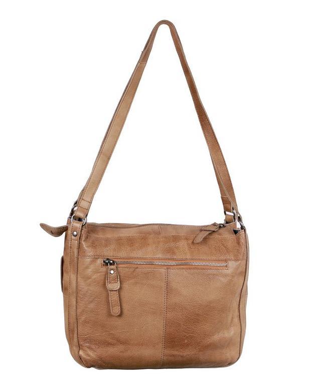 Exkluzívna dámska kožená kabelka camel GREENBURRY e3640e3bc5b