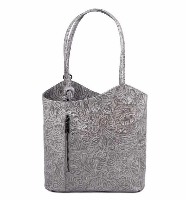 67f62677398 Dámska exkluzívna kabelka s potlačou PATTY TUSCANY šedá