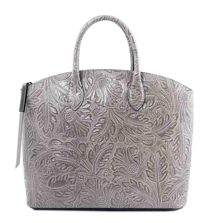 Exkluzívna šedá dámska kabelka s potlačou GAIA TUSCANY LEATHER e838a41658e