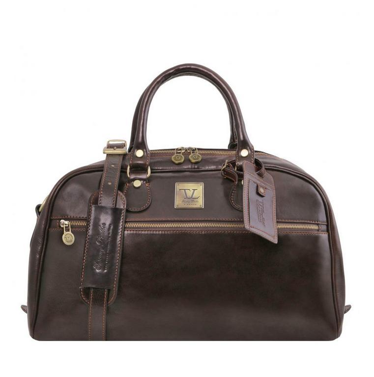 abf63811440c2 Príručná cestovná taška tmavohnedá VOYAGER small TUSCANY