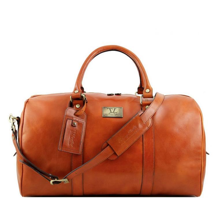 b08dbe0b284e9 Medová luxusná cestovná taška VOYAGER TUSCANY väčšia