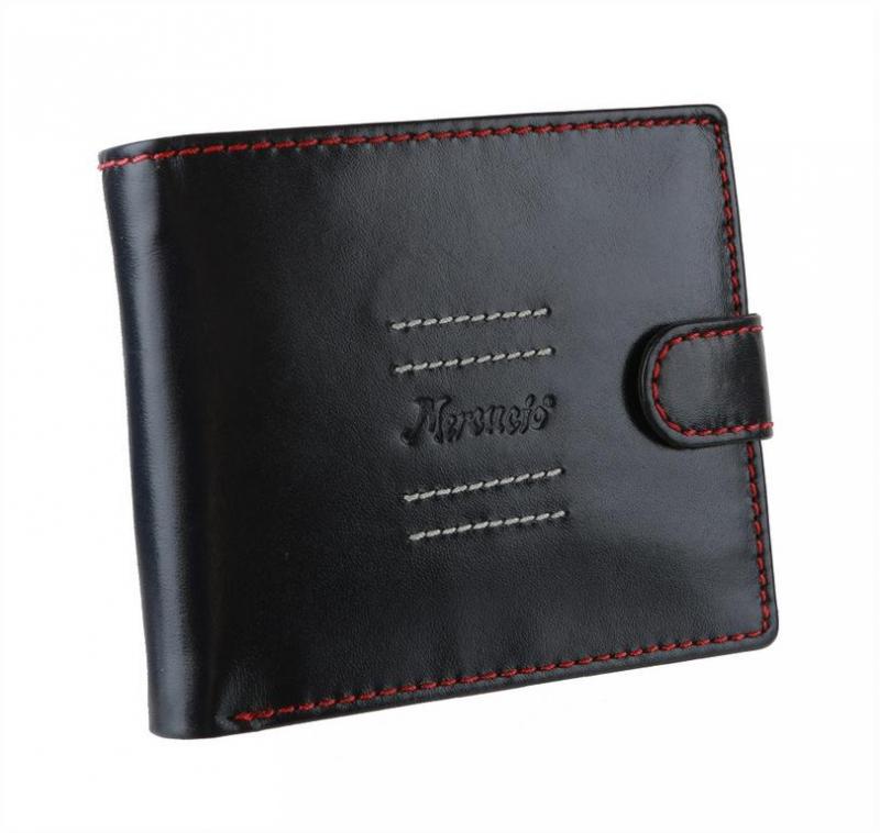ed842d07be93 Pánska kožená peňaženka MERCUCIO modrá s červeným šitím