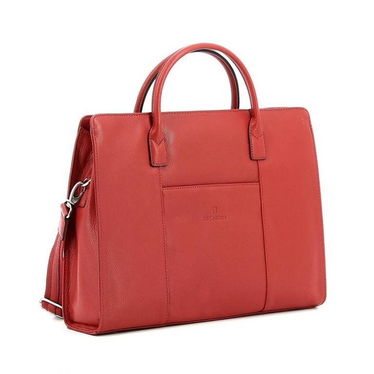 69c4884634 Dámska kožená biznis taška HEXAGONA 462698 oranžová-tehlová -  KozeneDoplnky.sk
