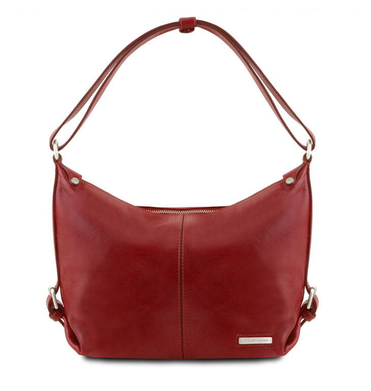759647f873 Luxusná dámska kabelka SABRINA červená TUSCANY LEATHER - KozeneDoplnky.sk