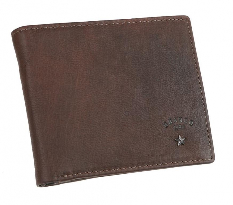 a06578e550e5 Tmavohnedá kožená peňaženka BRANCO RANGER 67780