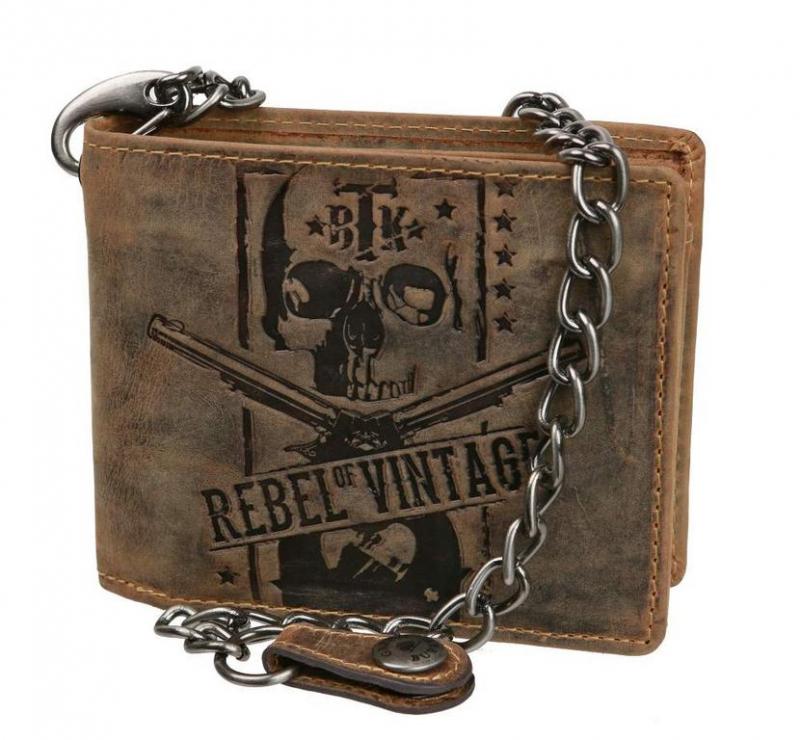 Kožená peňaženka s retiazkou vintage REBEL GreenBurry - KozeneDoplnky.sk 2576faa9884