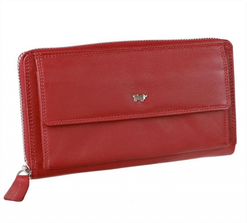 574d398240 Červená peňaženka BRAUN BUFFEL