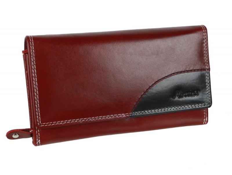 efe8fb4095 Exkluzívna dámska listová peňaženka MERCUCIO RFID červená - KozeneDoplnky.sk