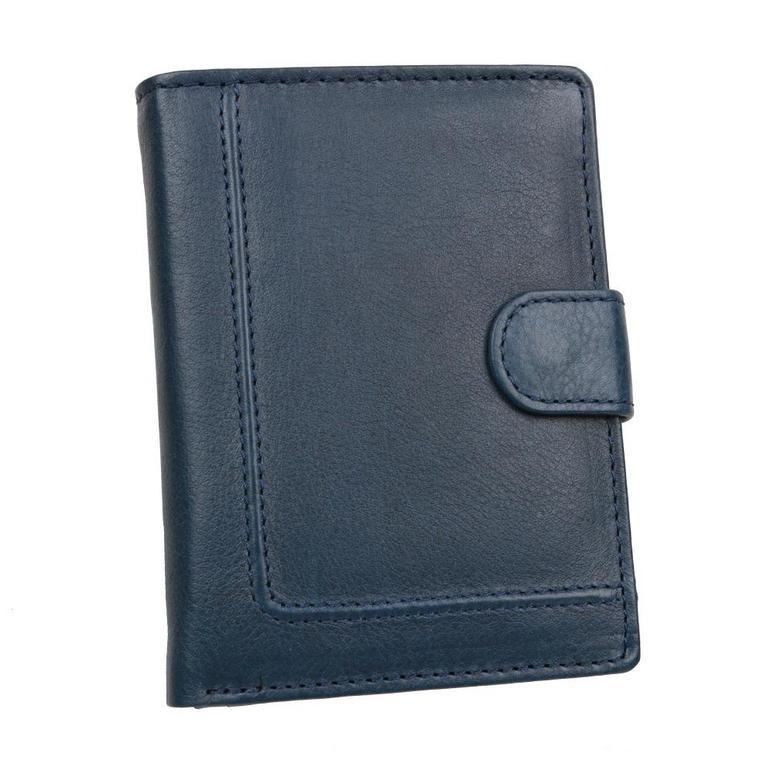 8ac1035045 Bezpečnostná peňaženka RFID so zapínaním modrá koža - KozeneDoplnky.sk