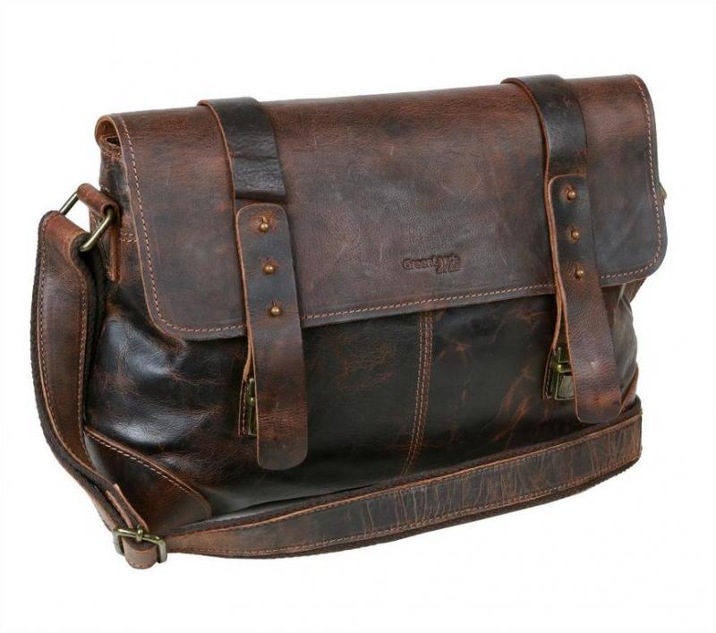 662426da69 Kožená taška-brašna 38x27 GREENLAND hnedá - KozeneDoplnky.sk