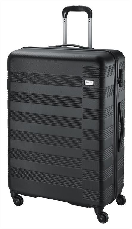 bdcfa5895619c Veľký cestovný kufor D&N, plastový čierny - KozeneDoplnky.sk