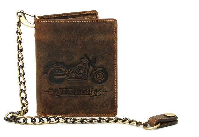c26877dcfd Pánska kožená peňaženka GreenBurry BIKE na výšku hnedá