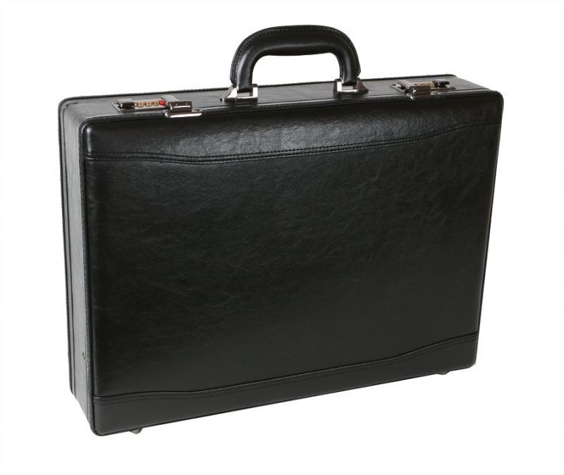 4e6f5111759f3 Čierny koženkový kufrík diplomatický MERCUCIO 569 - KozeneDoplnky.sk